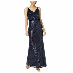 Adrianna Papell 6 Midnight Blue Dress NWT BE32